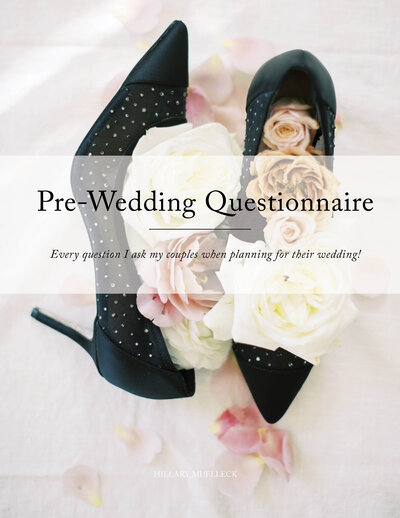 Pre-Wedding Questionnaire Freebie by Hillary Muelleck