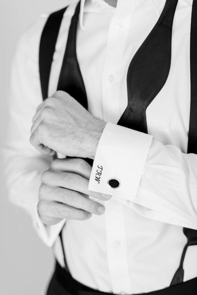 monogrammed-shirt-cuff-groom-details-wedding-inspiration-photo