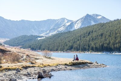Photos from a Colorado proposal photography package at Clinton Gulch Dam Reservoir
