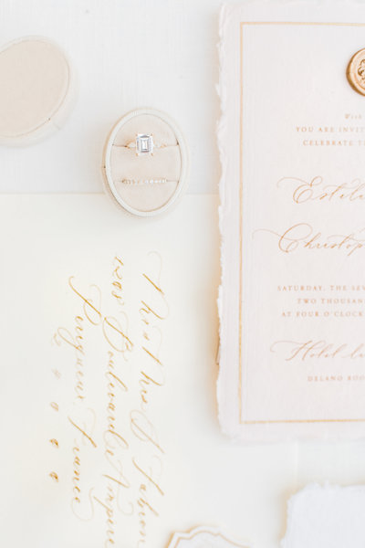 invitation suite for Great Marsh Estate wedding by costola photography
