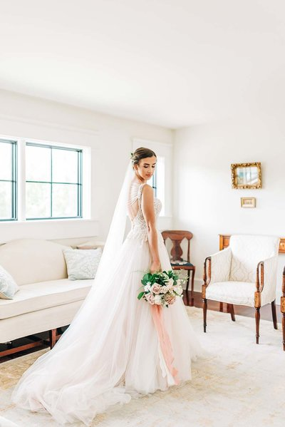 Virginia Wedding Photographer, bride standing in her gown