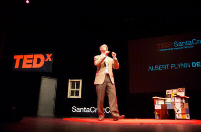 Albert speaking at TEDx Santa Cruz