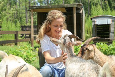 Meeghan and Goats