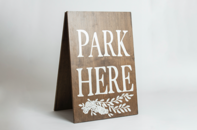 Wooden Parking Sign