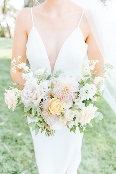 Elegant Bridal Bouquet in Sun Valley, Idaho