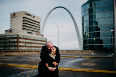 Downtown STL Winter Engagement Session