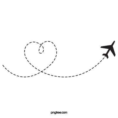 —Pngtree—heart-shaped airplane route_5054161