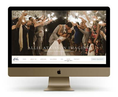 Showit Website Design Mock Up for Allie Atkisson Imaging, an Arkansas wedding photographer