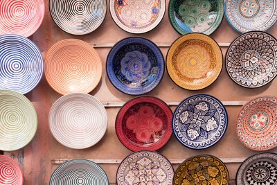 Ceramic plates Marrakesh Morocco
