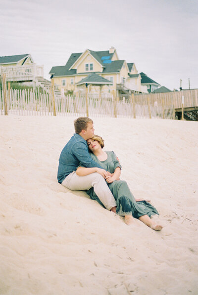 Topsail Island Engagement