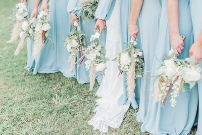 Dallas bridesmaids bouquets