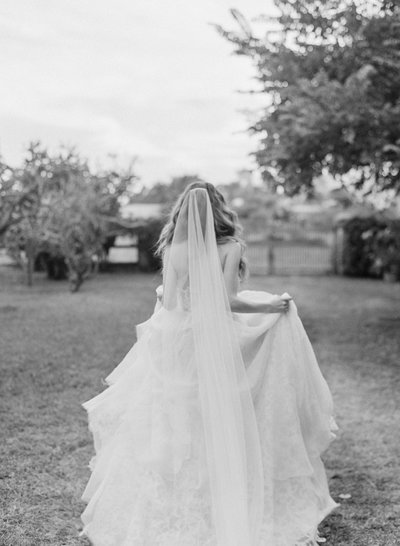 bride wearing a Samuelle Couture gown