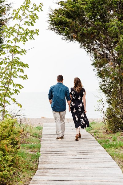 Jen & Steve | Point Pelee Engagement Session | Dylan Martin Photography -3