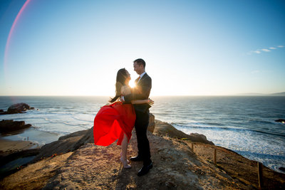 San Francisco wedding engagements photos
