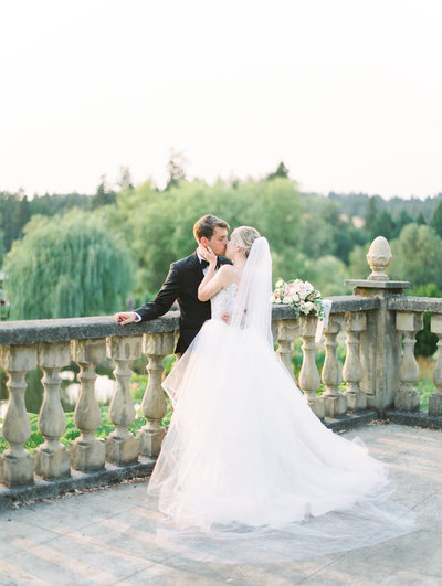 bride and groom wedding portrait by portland wedding photographers sweetlife photography