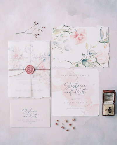 robbins nest wedding invitations