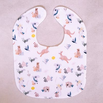 Luxury Australian Animal Wombat Baby Toddler Bib Gift - Wombat & Friends