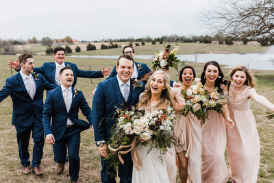 Wedding photos at Rustic Grace Estate in Dallas, TX