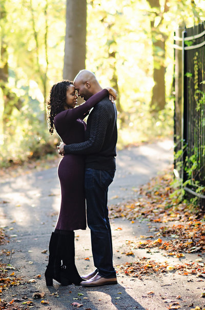 Portrait of a couple in autumn