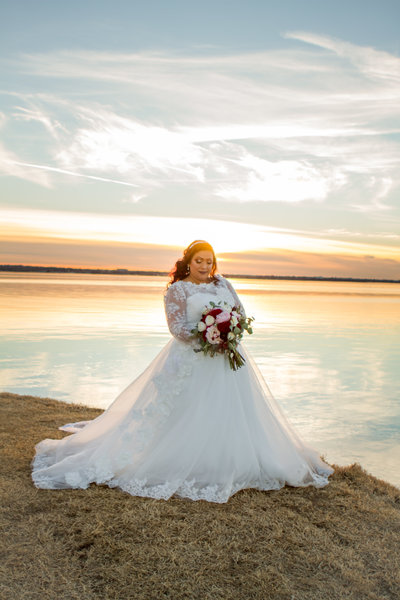 sunset wedding, oklahoma wedding