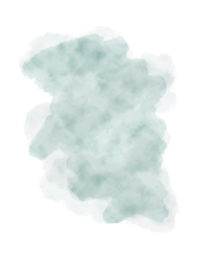 Teal Long Splotch PNG