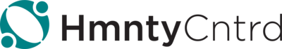 A logo to the left with the word HmntyCntrd next to it