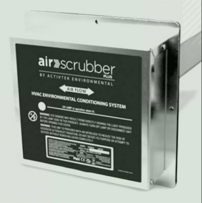 A detailed description of the Air Scrubbers Plus located at the base of the product.