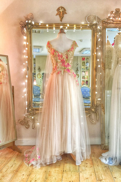 Blush_tulle_gold_lace_floral_embroidered_wedding_dress_JoanneFlemingDesign (12)