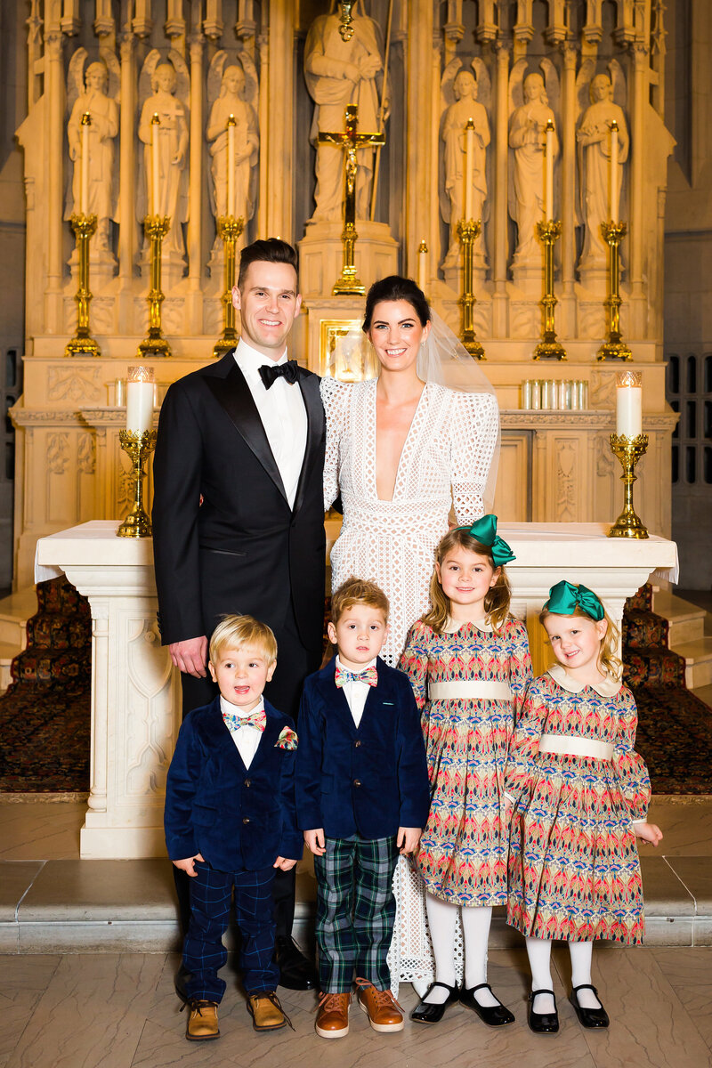 bridal-party-children-saint-james-chapel