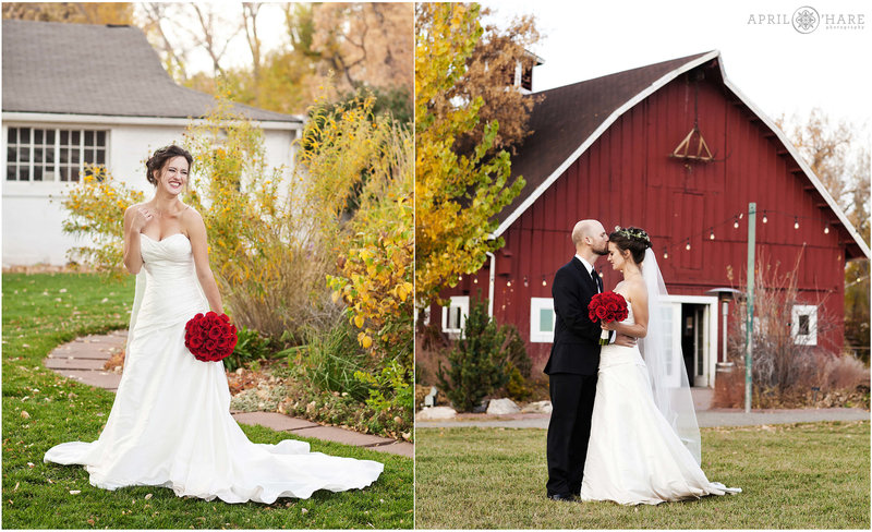 Red Barn Wedding Photography During Fall at Chatfield Farms