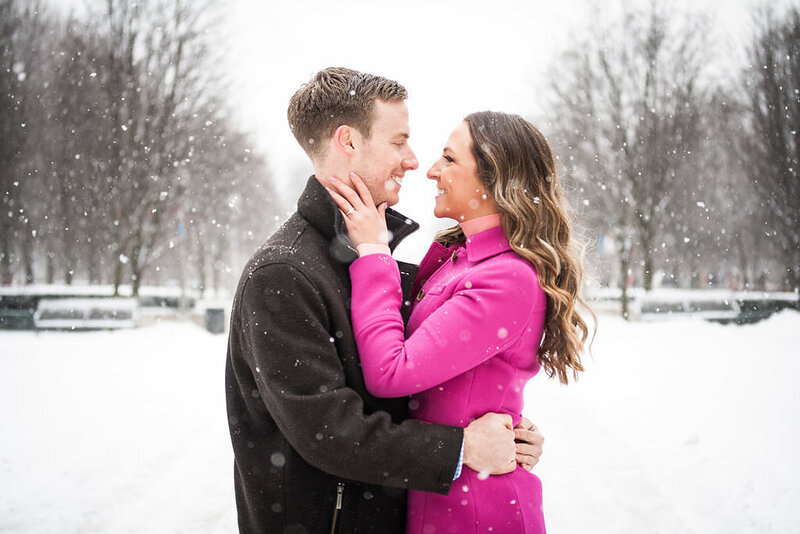 Millennium Park Chicago Illinois Winter Engagement Photographer Taylor Ingles 5