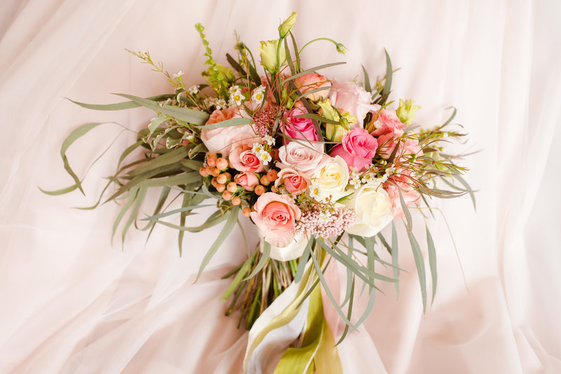 bridal bouquet by moonset farm florals.