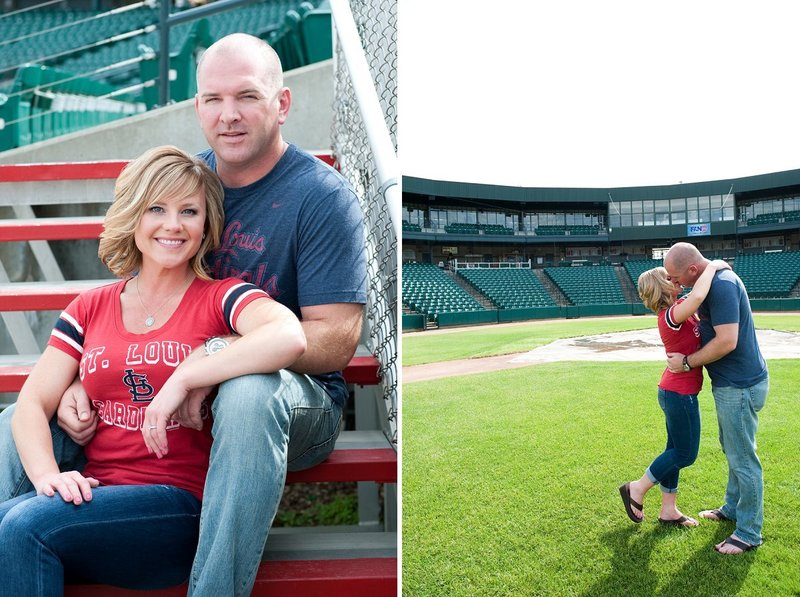 Fargo Red Hawks Engagement session at the stadium by kris kandel (4)