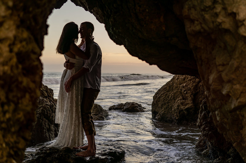 Elopement Inspiration Couples Photoshoot at a SoCal Malibu Beach by Gabby Jockers Photography