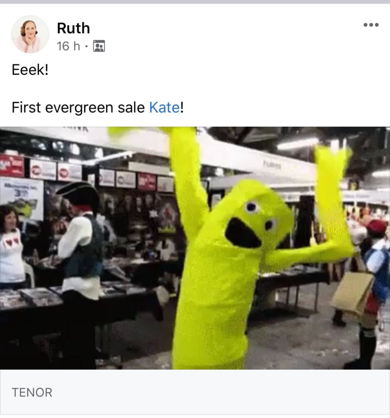 ruth first sale
