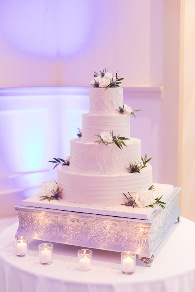 cake with flowers  at Stone House at Stirling Ridge Maryland Wedding by  Costola Photography