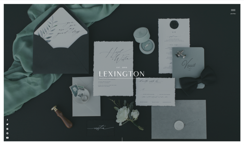 with grace and gold website template lexington
