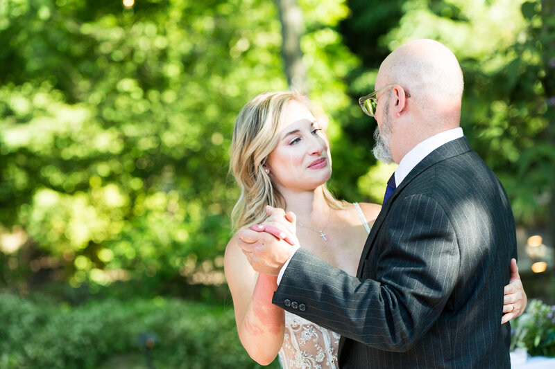 bride cries during first dance with dad in cleveland