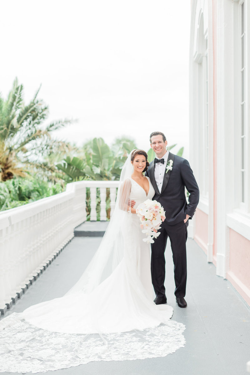 bride and groom portraits at Don Cesar wedding in St Petersburg Florida by Costola photography