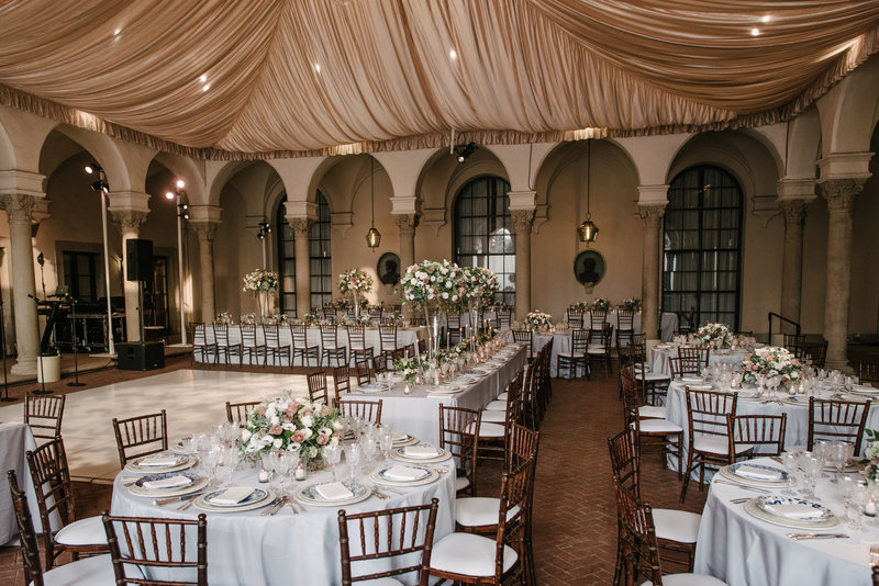 Wedding by Jenny Schneider Events at The Anthenaeum in Pasadena, California. Photo by Heather Kincaid Photography.