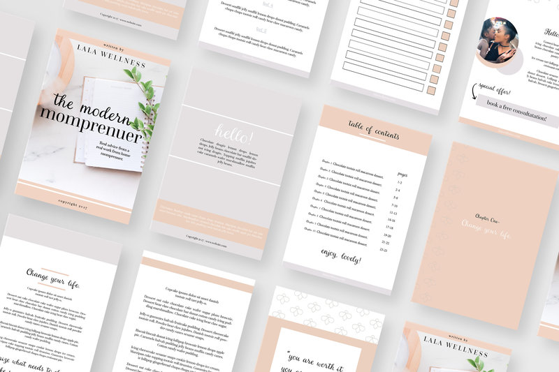 Momprenuer Ebook Template For Canva Or Indesign Vanessa