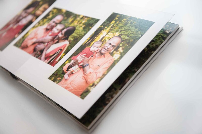 Photo book with multiple image layout