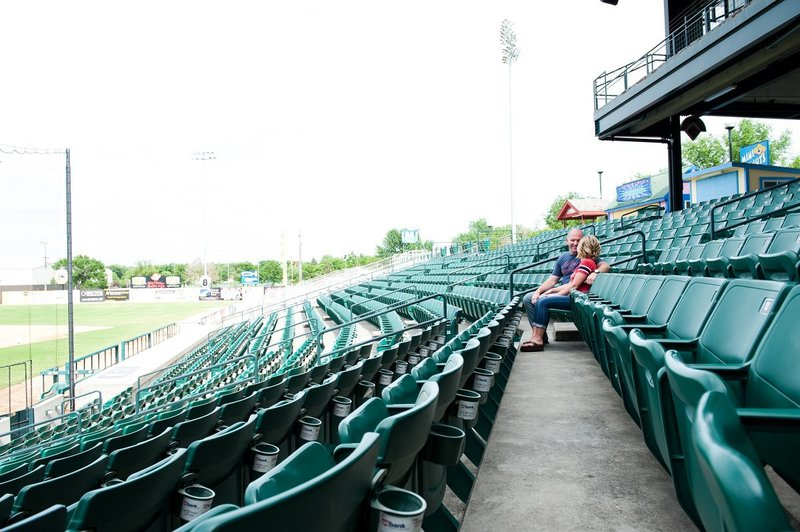 Fargo Red Hawks Engagement session at the stadium by kris kandel (5)