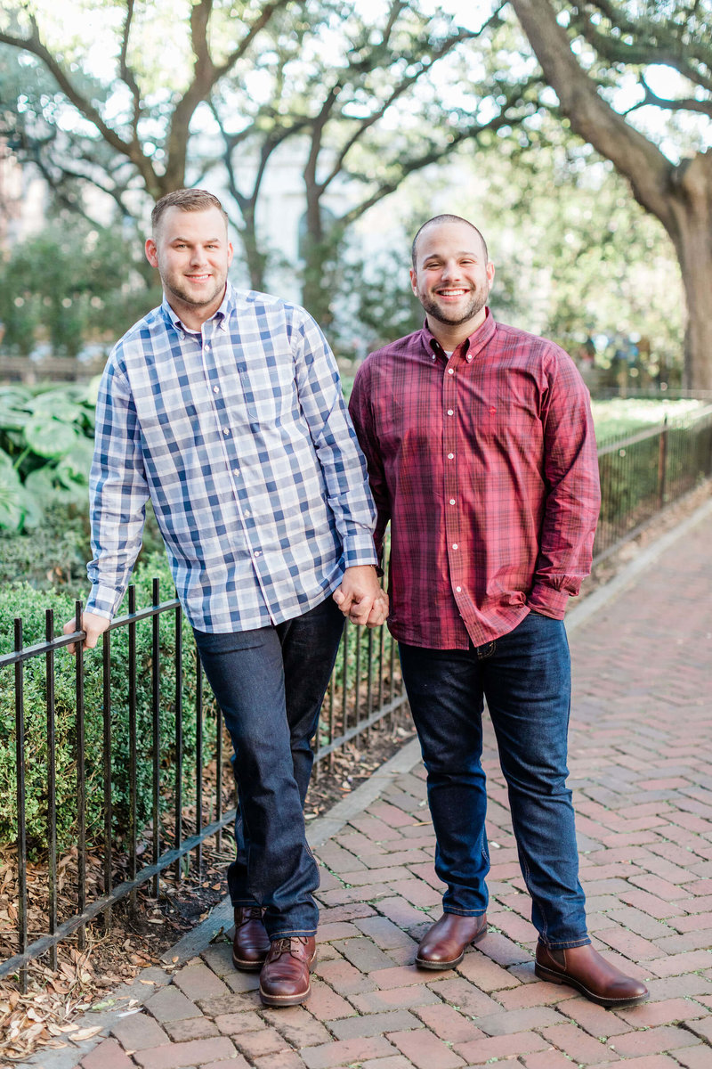Brandon and Joe's Downtown Savannah Engagement Session