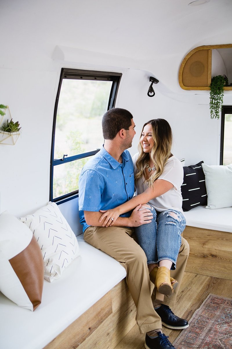 Phoenix AZ Engagment Photographer Air Stream