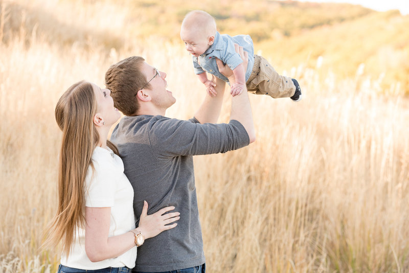 Utah Family Photography at Snowbasin Resort in Utah during the fall