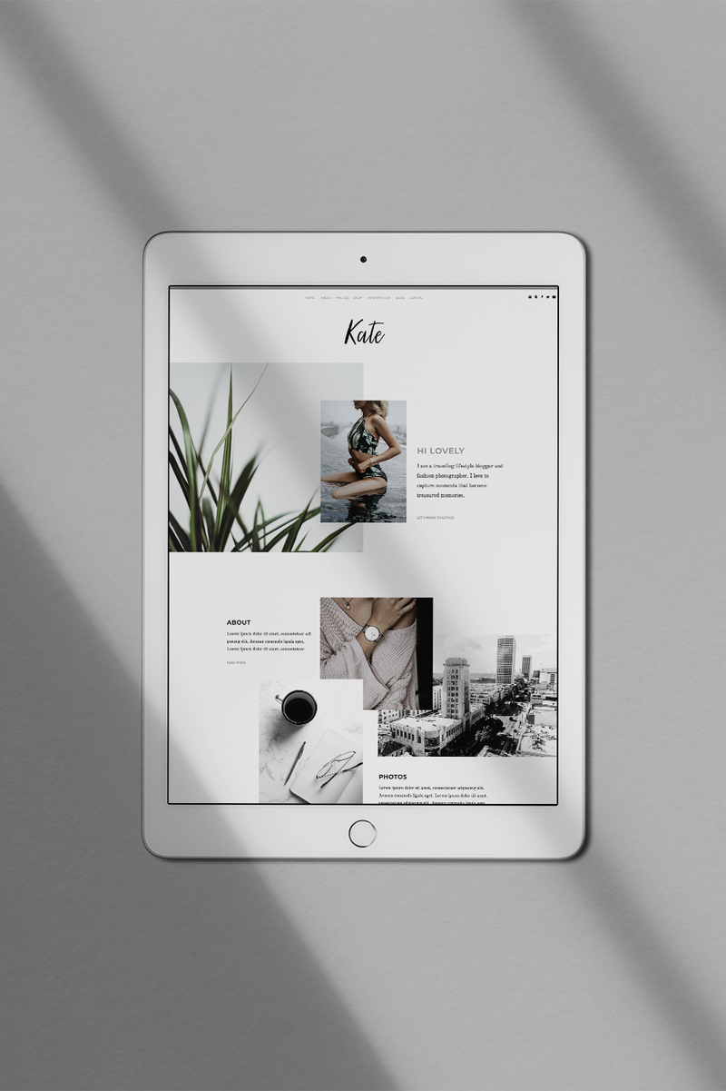 The Roar Showit Web Design Website Template Creative Business Layout Kate