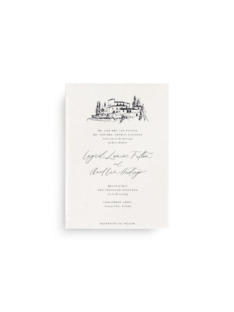 Invitation Venue Sketch