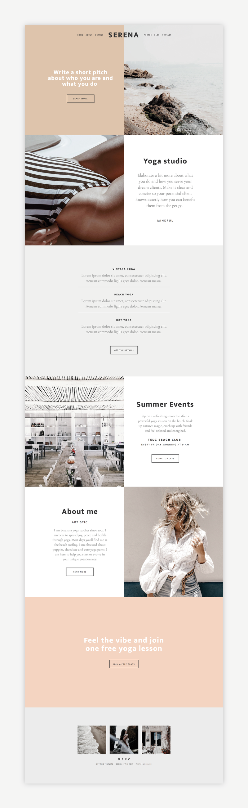 The Roar Showit Web Design Website Template Serena Shop