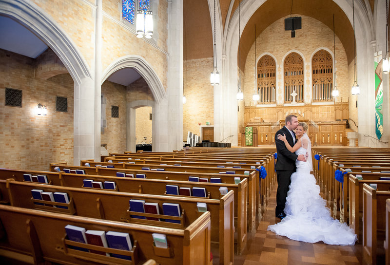 First Presbyterian Fargo wedding churches Kris Kandel Photographer (2)